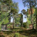 Des bâtiments pensés comme des arbres, en bois recyclé, qui fonctionnent à l'énergie renouvelable © Raimond de Hullu