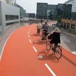 Une piste cyclable à Copenhague