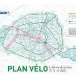 Carte du plan velo de Paris