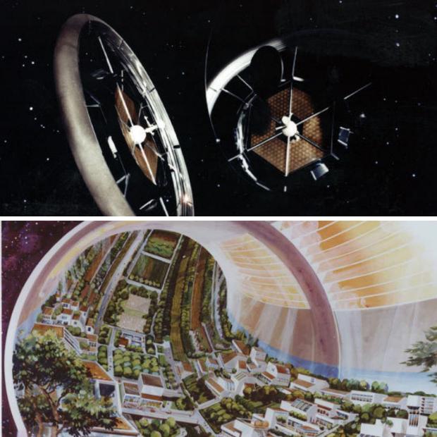 Station spatiale habitée imaginée par des ingénieurs de la NASA : Tore de Stanford, 1975