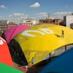 """Rénovation artistique du marché couvert """"Mercado de la Cebada"""" à Madrid par le collectif Boa Mistura"""