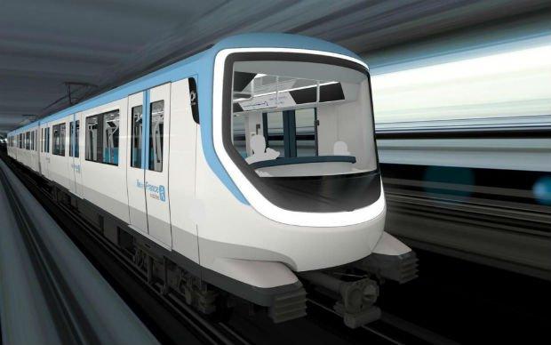 Une rame d'Alstom