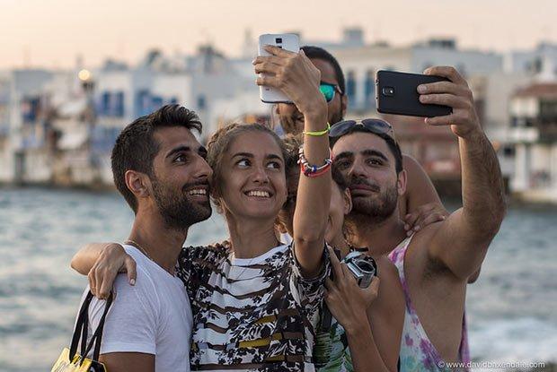 selfie de quatre amis