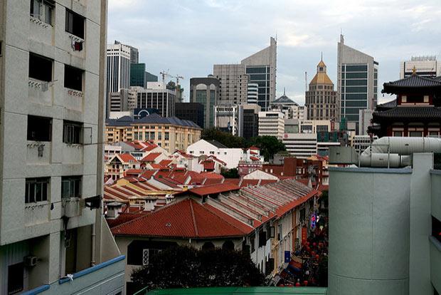 photographie des toits de chinatown