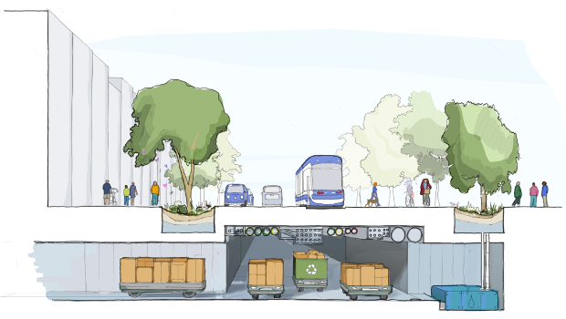 Le système de livraison automatisé souterrain