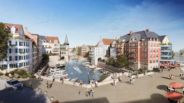 Illustration du projet de marina à Cormeille-en-Parisis