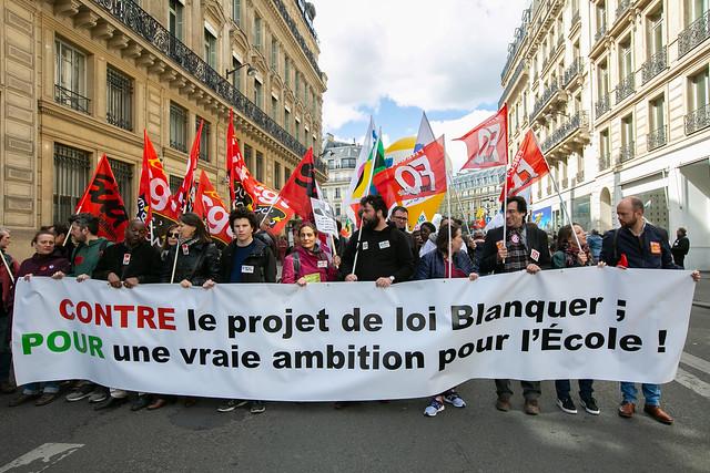 Dans la rue contre la loi Blanquer - Force Ouvrière sur Flickr
