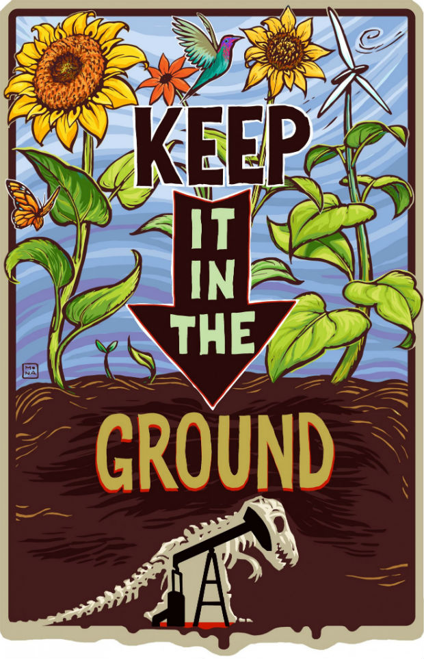 "Affiche pour la campagne ""Keep it in the ground"" de 350.org"
