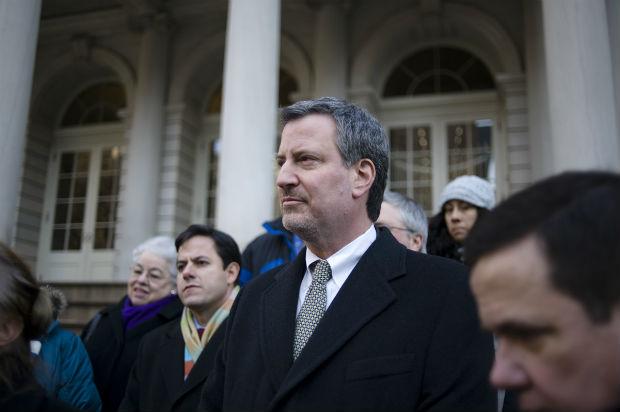 Bill de Blasio, maire de New York et candidat à la présidentielle de 2020