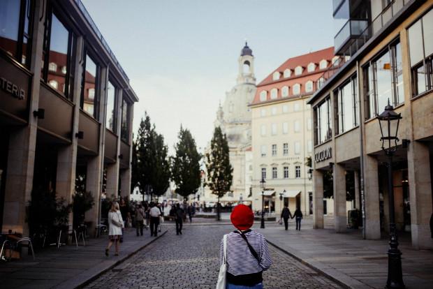 Le centre-ville de Dresde fait cohabiter les architectures.
