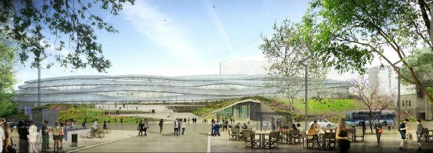 Perspective de la nouvelle gare de Rennes