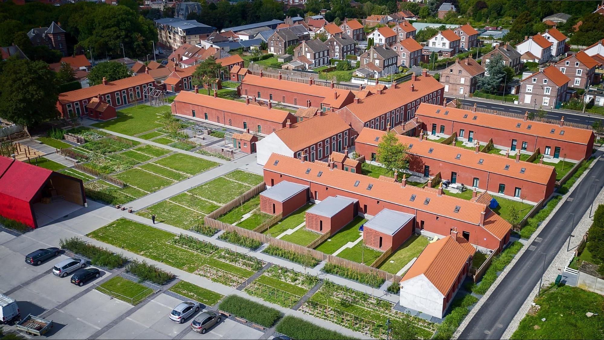 Vue aérienne de la Cité des Électriciens