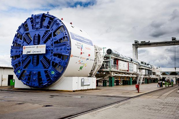 photo d un tunnelier dans le cadre du Grand Paris