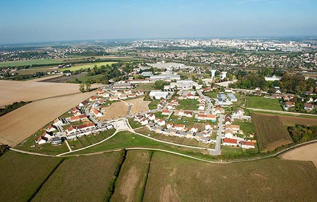 photo de la zone péri-urbaine de Chalon-sur-Saône