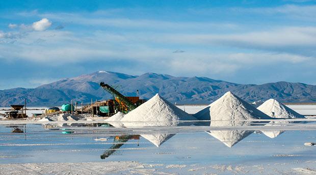 photographie de l extraction de lithium