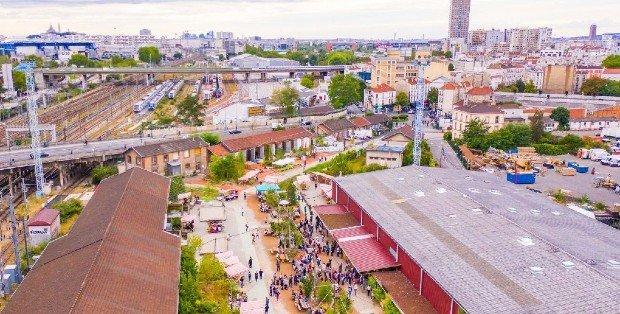 vue par drone de la Cité Fertile - crédit photo @ Adrien Roux